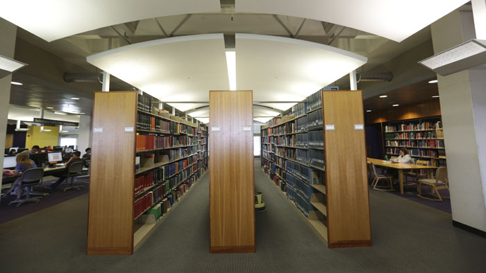 The library full of content and study spaces